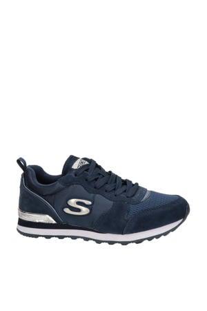 suède sneakers donkerblauw