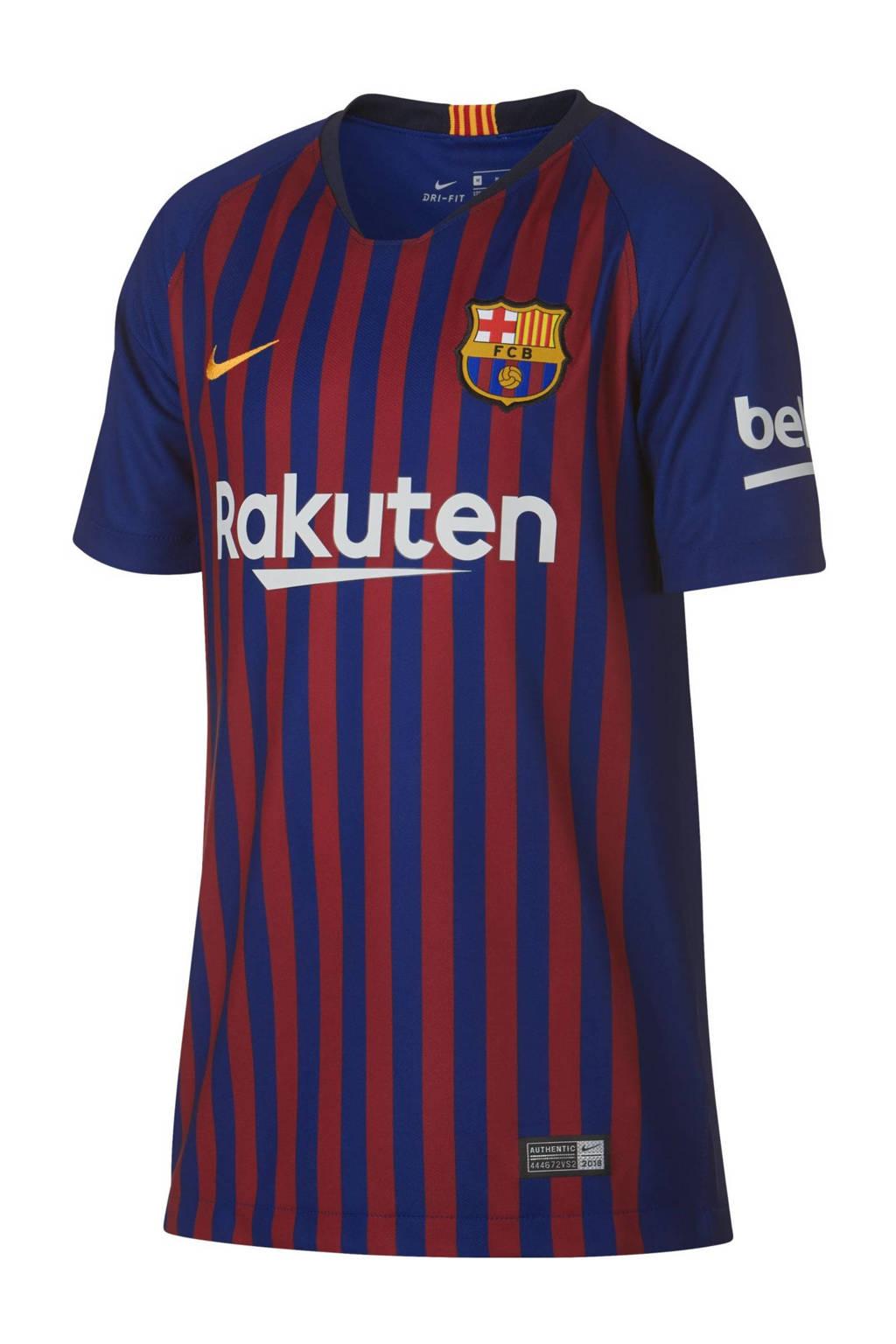 Nike Junior FC Barcelona voetbalshirt, Donkerblauw