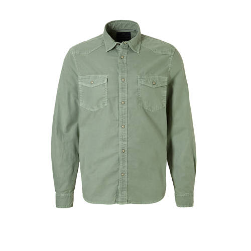 slim fit overhemd groen