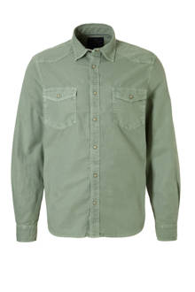 Angelo Litrico slim fit overhemd groen
