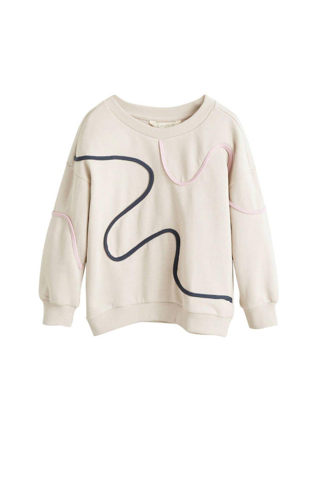 Mango Kids sweater ecru, Ecru