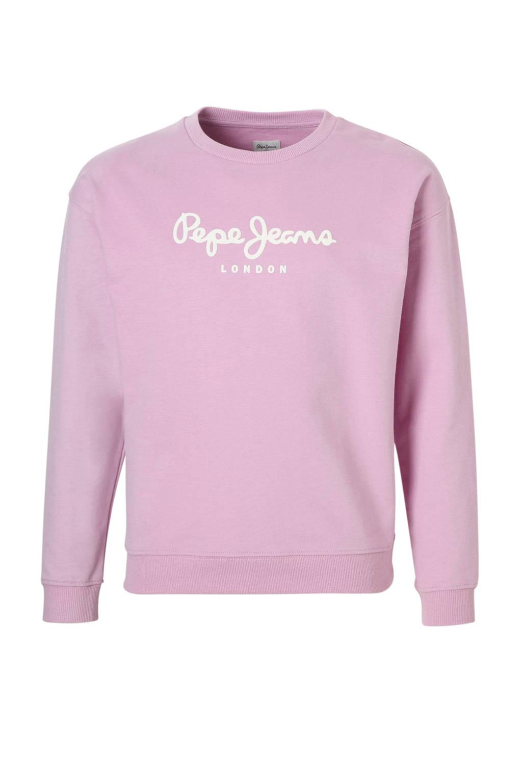 Pepe Jeans sweater met logo lila, Lila