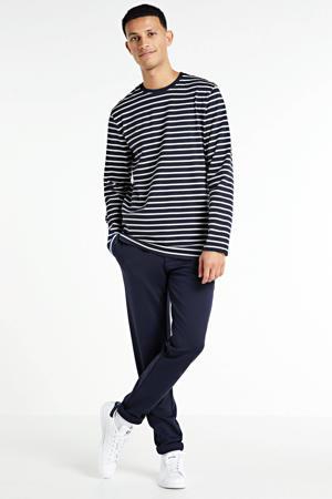 gestreept T-shirt blauw/wit