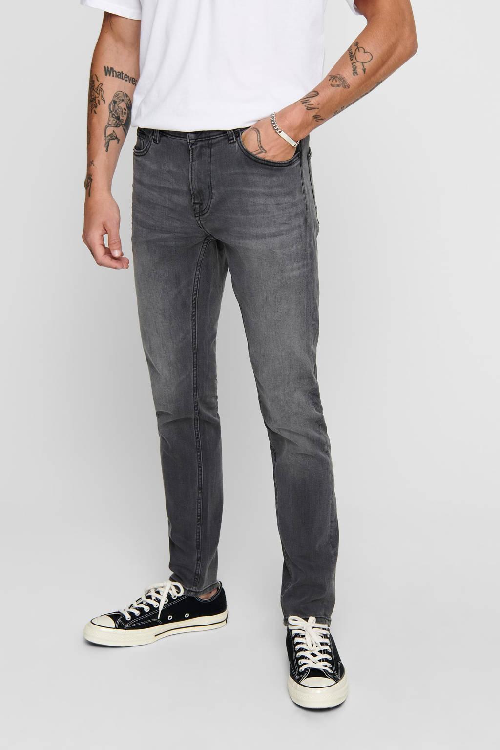 ONLY & SONS skinny jeans grijs, Grijs