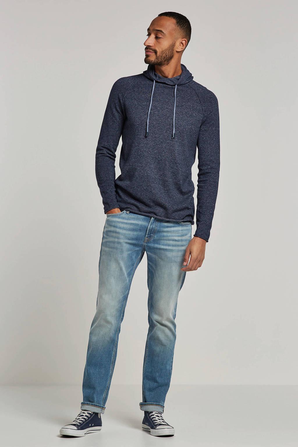 Only & Sons trui met capuchon, Grijsblauw