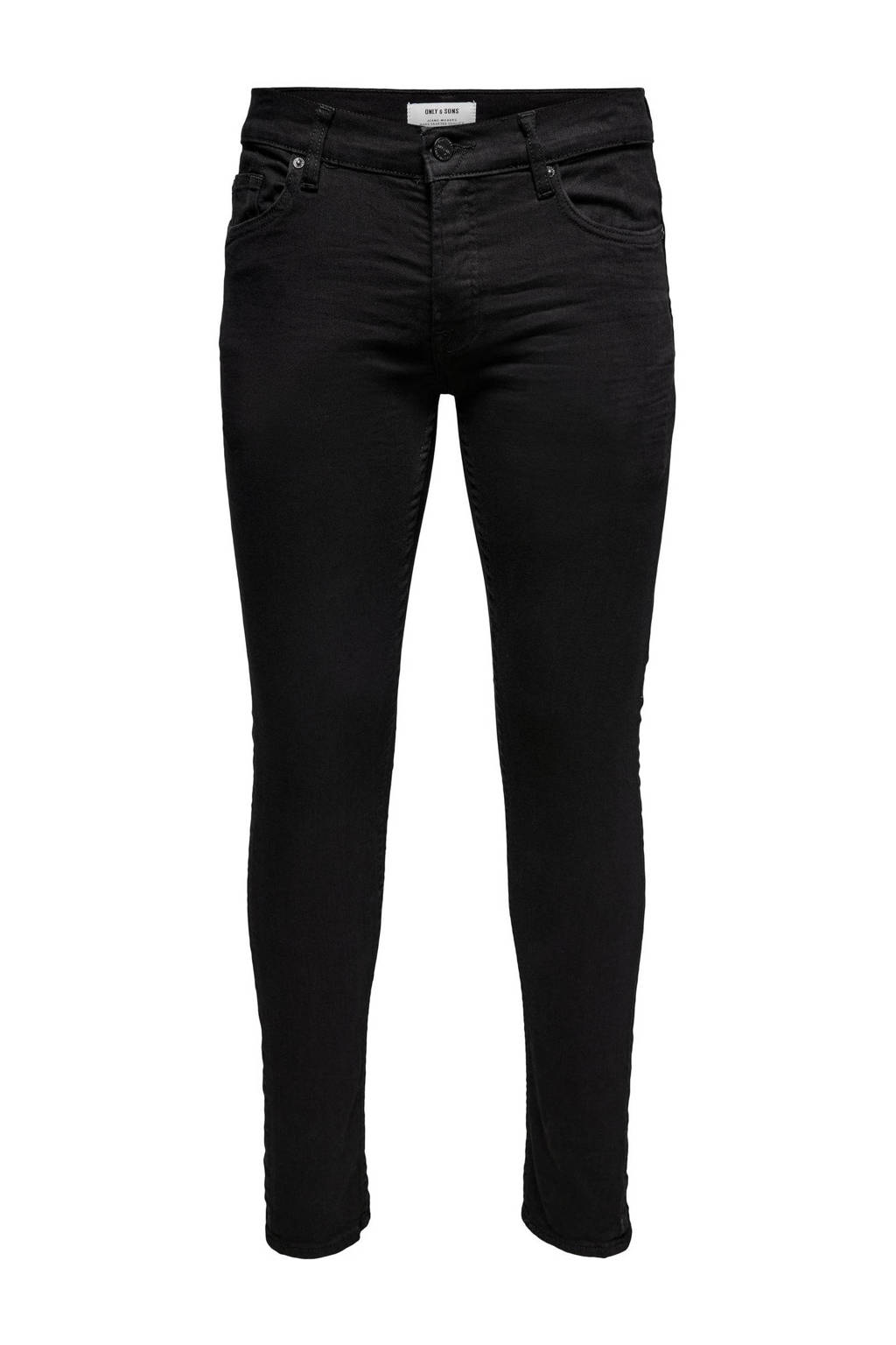 Only & Sons  slim slim fit jeans, Zwart
