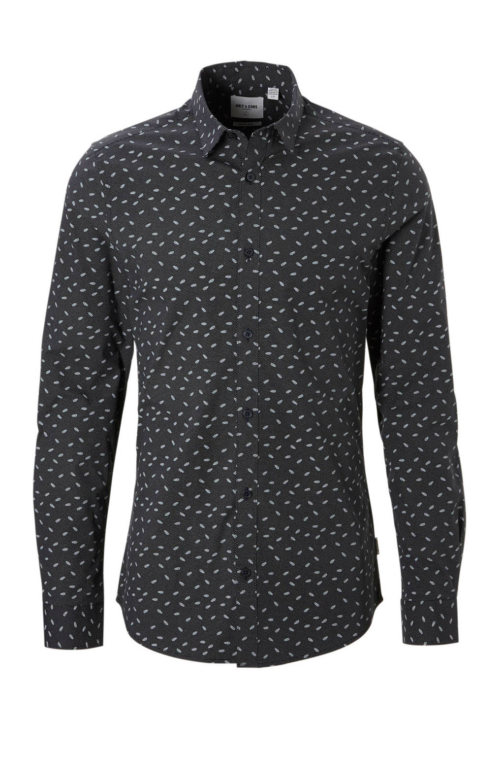 Only & Sons extra slim fit overhemd Alfredo, Donkergrijs