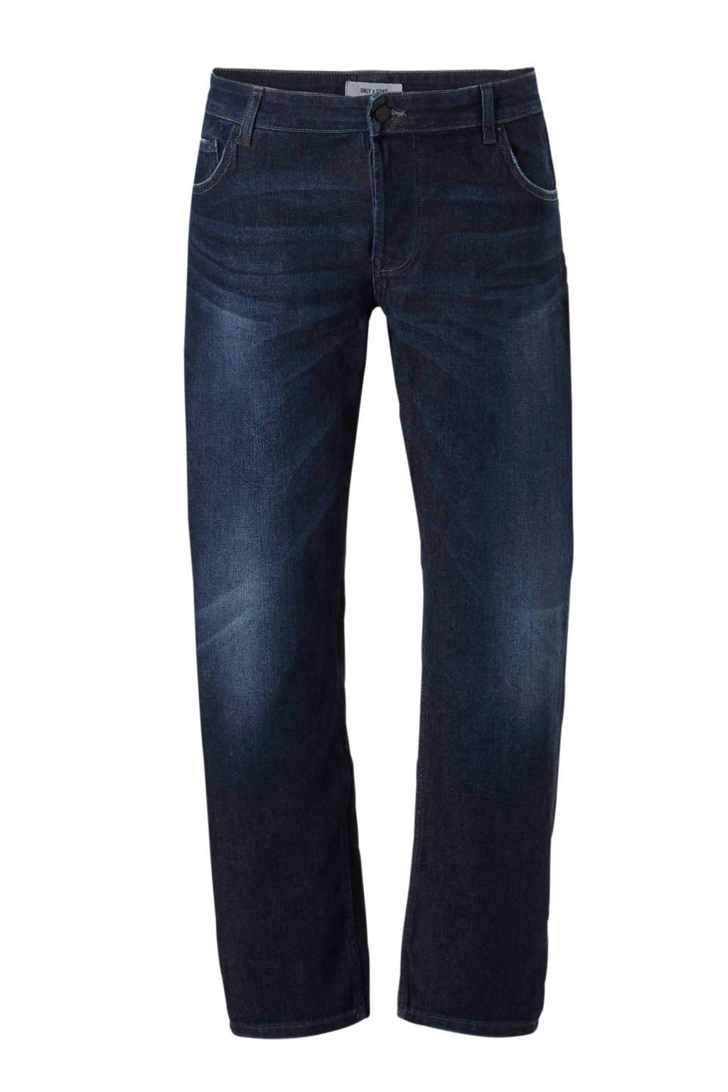 Only & Sons PLUS slim fit jeans, Dark denim
