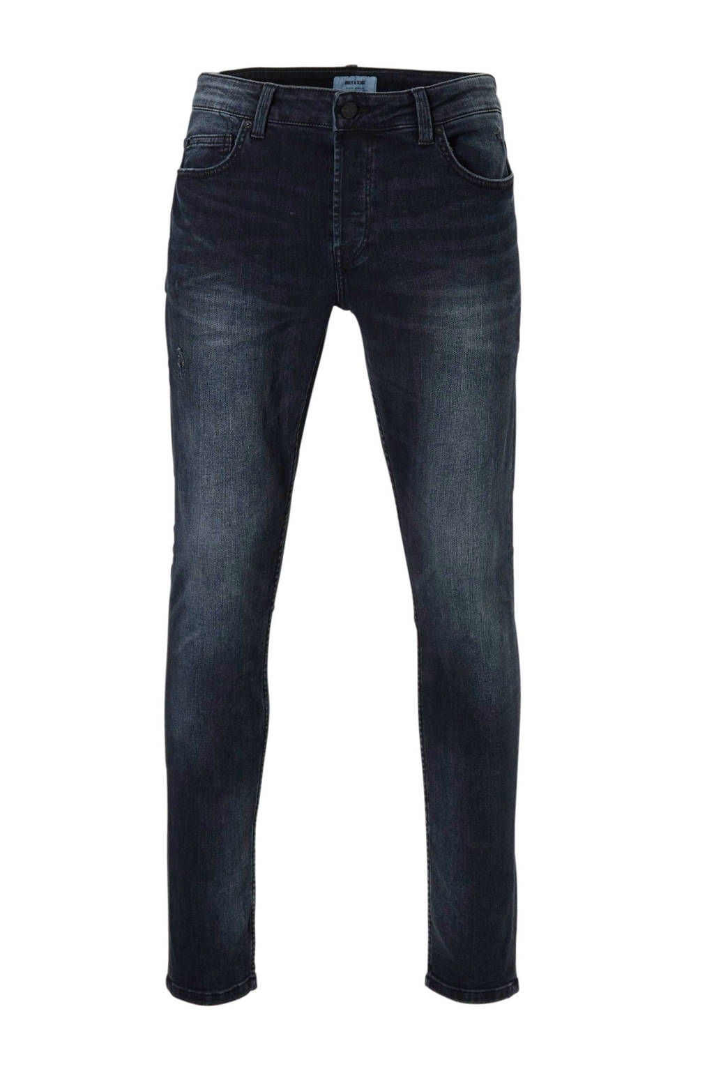 Only & Sons  tapered tapered jeans, Dark denim