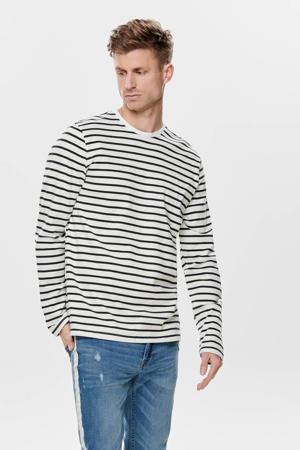 gestreept T-shirt wit/zwart
