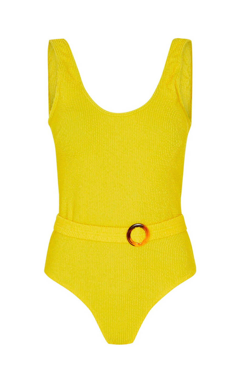 Y.A.S badpak met structuur geel, Geel