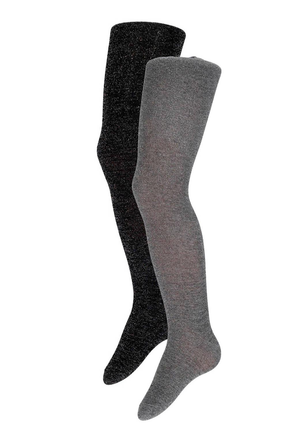 Apollo maillot ( 2 paar), Zwart/grijs
