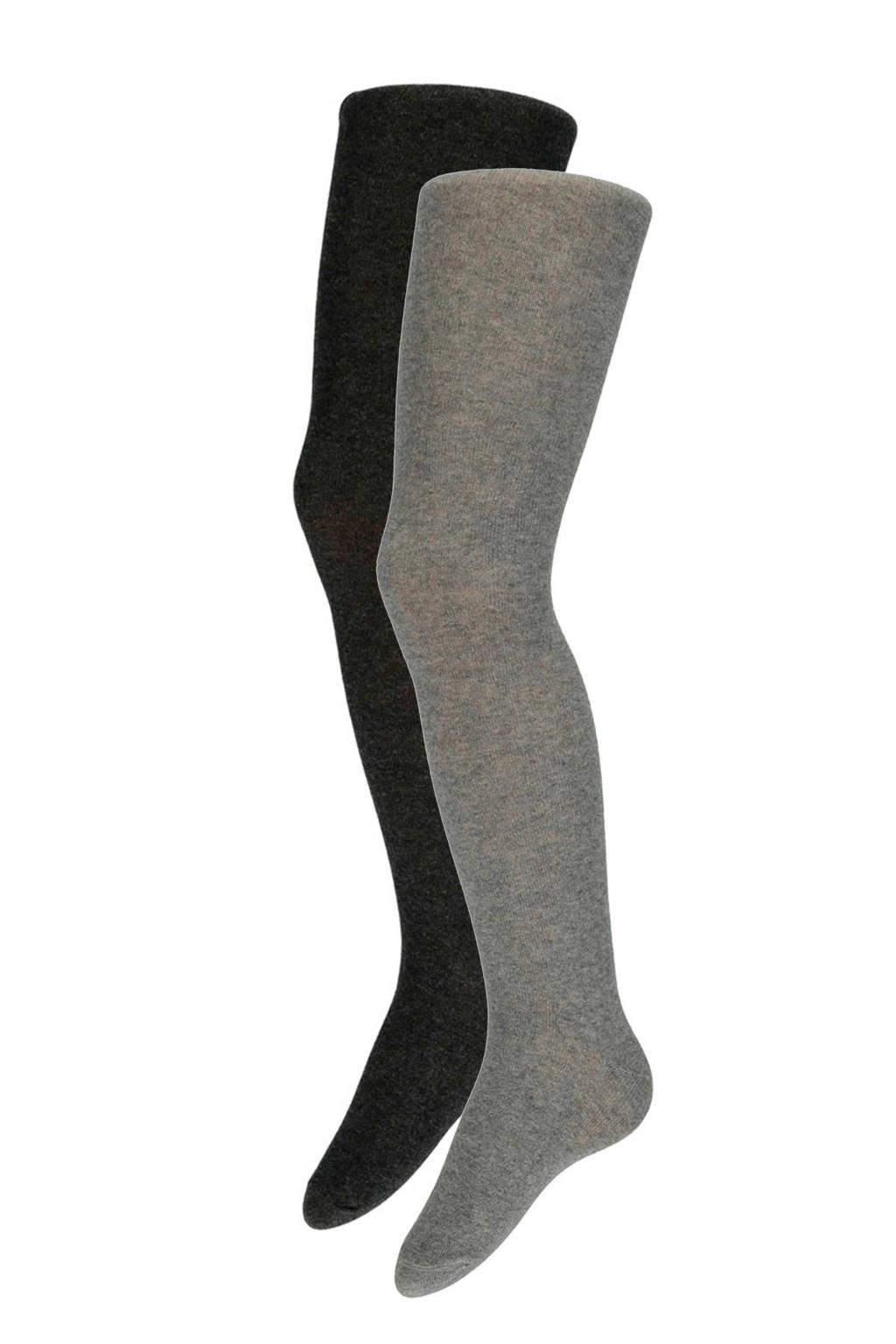 Apollo maillot ( 2 paar) grijs, Grijs/lichtgrijs
