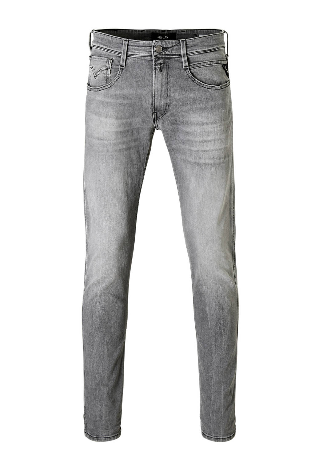 REPLAY slim fit jeans Anbass, Grijs
