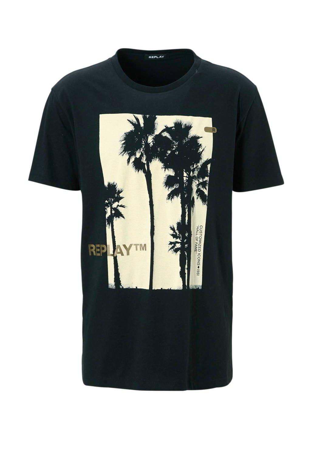 REPLAY T-shirt, Zwart