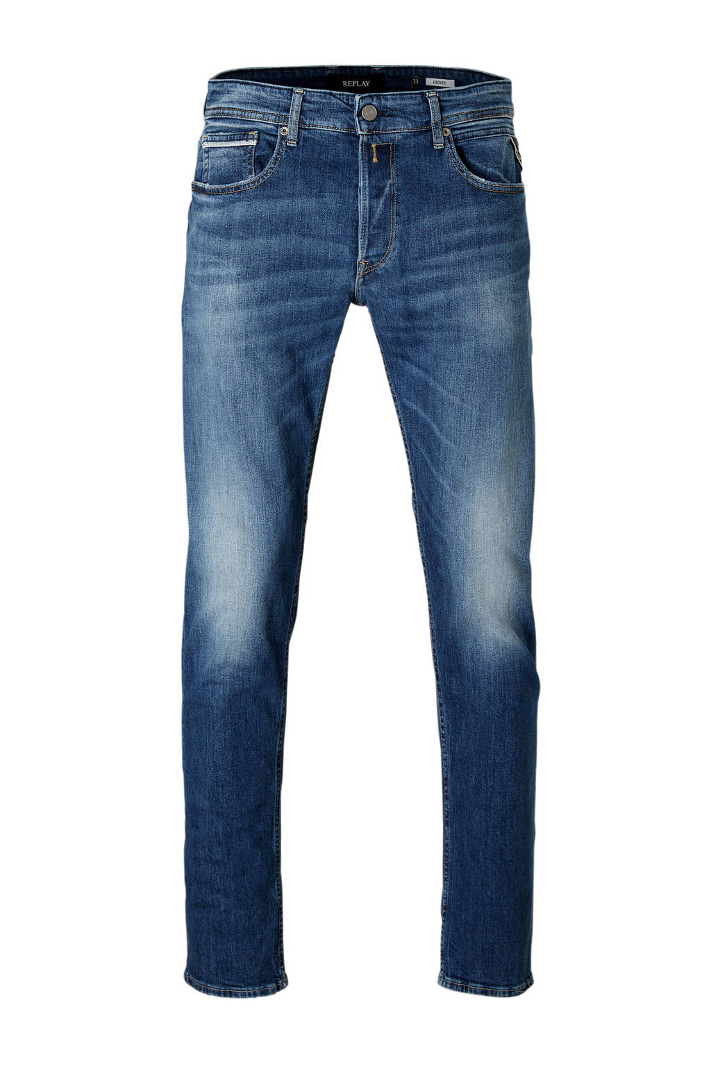 REPLAY straight fit jeans Grover, Dark denim