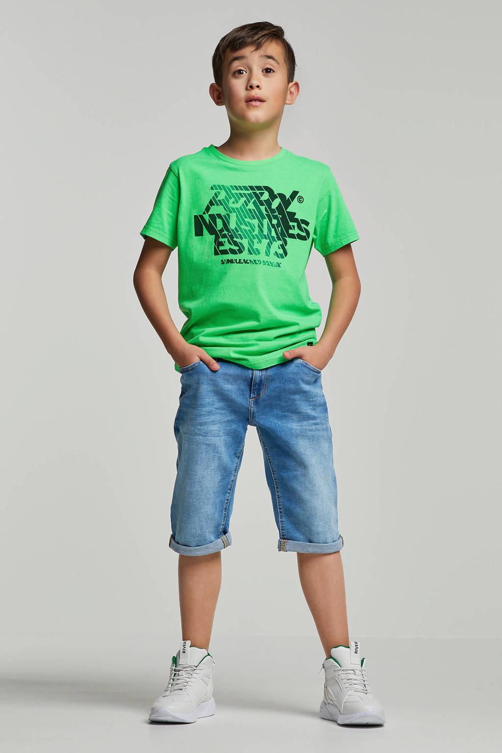 WE Fashion Blue Ridge regular fit jeans bermuda Zeke Bruce, Denim
