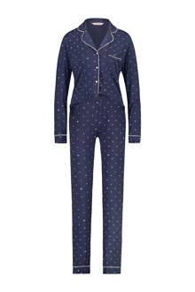 pyjama in all over print blauw