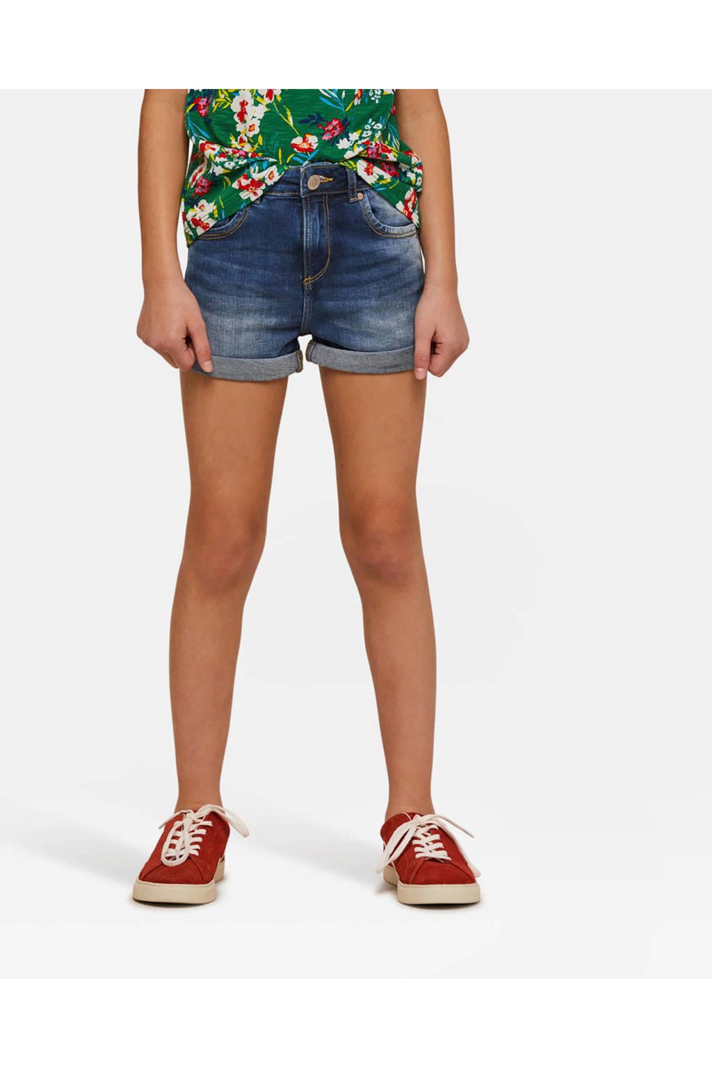 WE Fashion Blue Ridge skinny jeans short blauw jog denim, Blauw