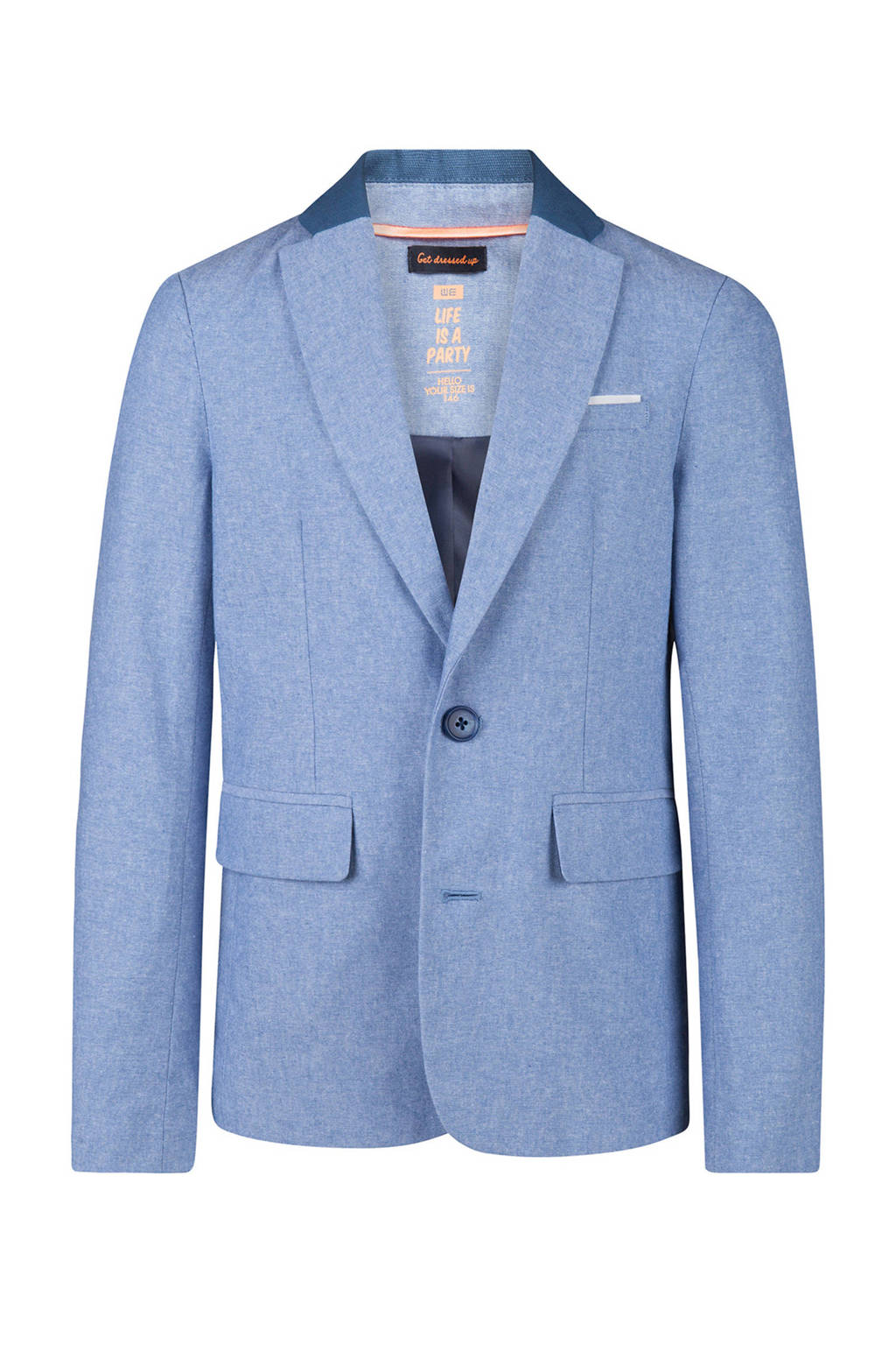WE Fashion slim fit colbert blauw, Lichtblauw