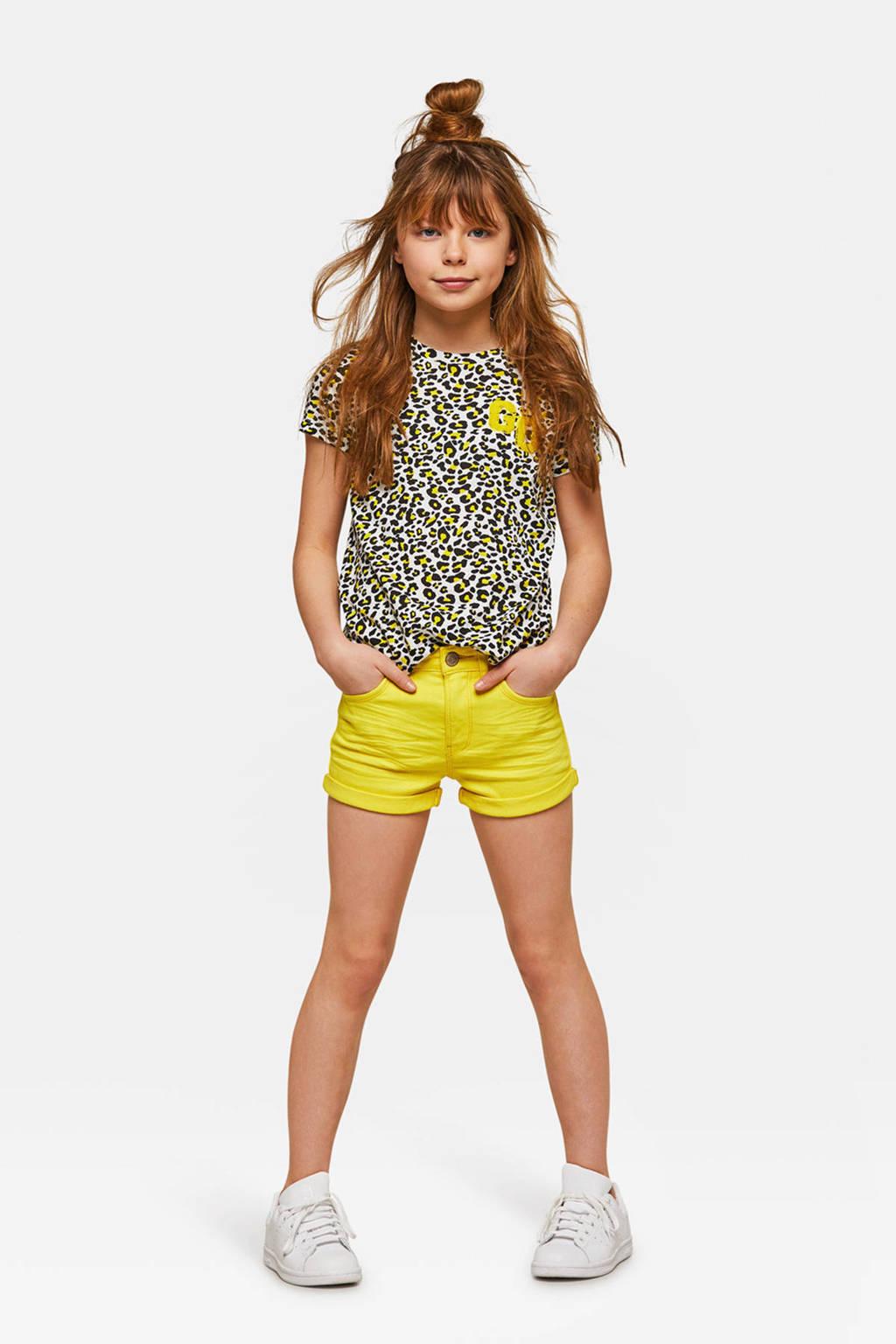 WE Fashion Blue Ridge short Peggy geel, Geel