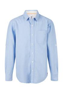 WE Fashion overhemd met grafischeprint blauw (jongens)