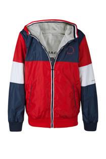 WE Fashion omkeerbare jas rood (jongens)
