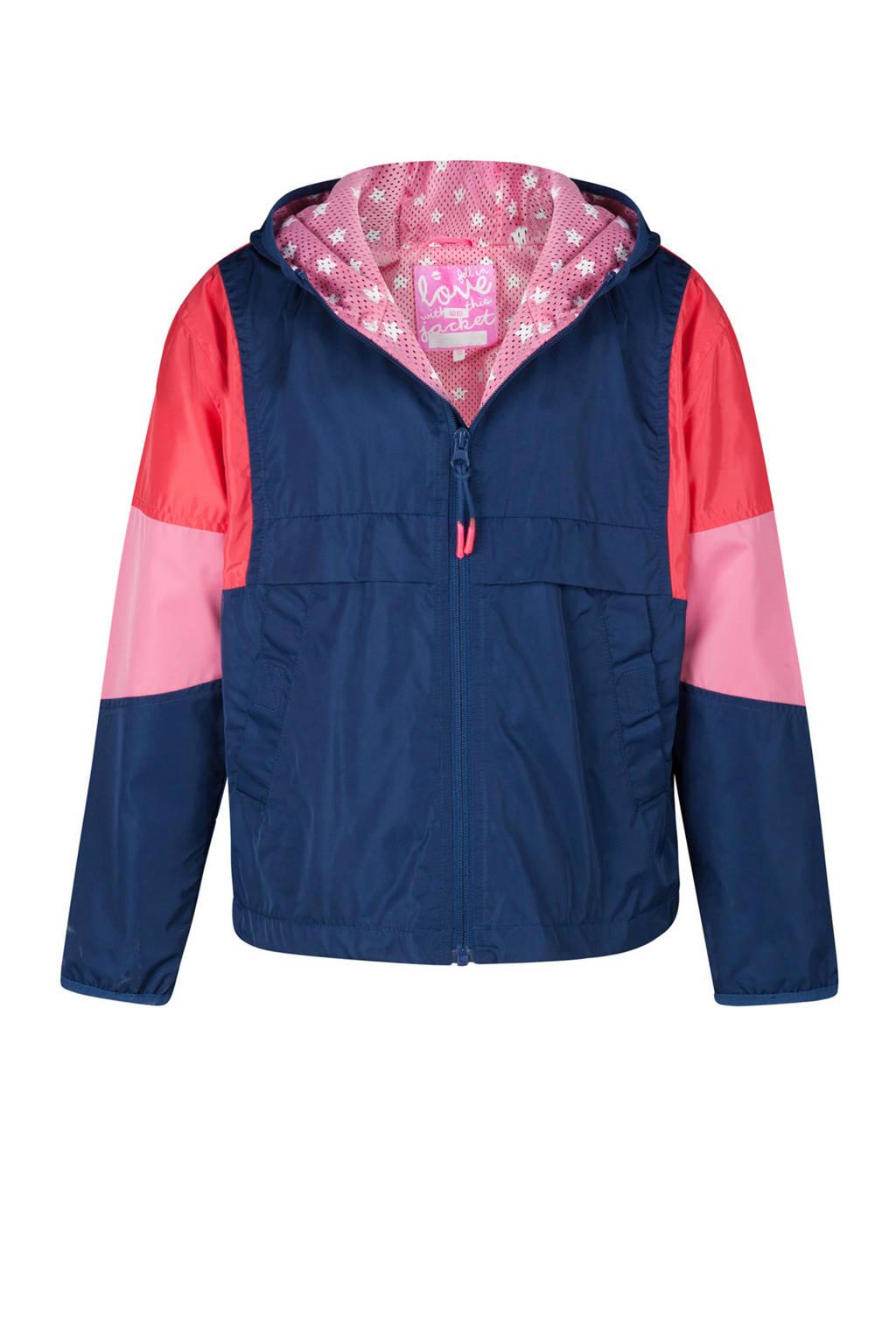WE Fashion zomerjas blauw, Blauw/koraal/roze