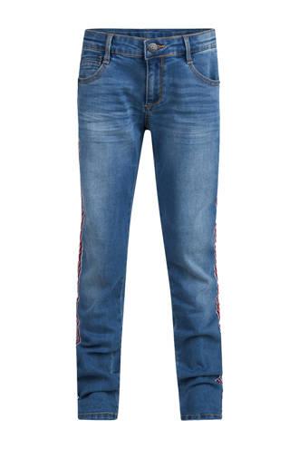 Blue Ridge skinny jeans Carson met zijstreep