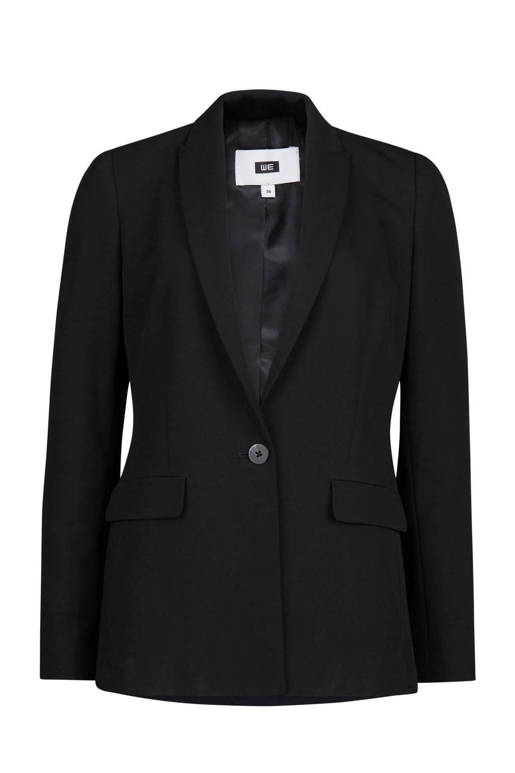 WE Fashion geweven blazer zwart, Zwart