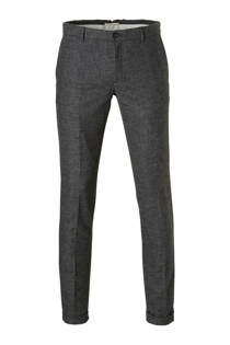Mango Man straight fit pantalon met wol grijs (heren)