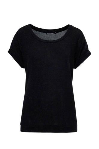 T-shirt zwart met zilver lurex