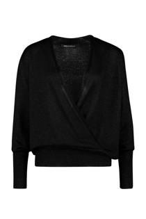 Expresso overslag trui met lurex zwart (dames)