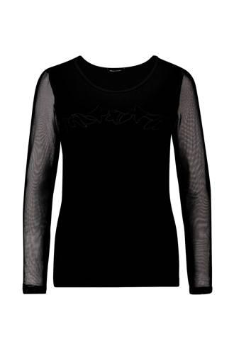 Longsleeve met mesh zwart