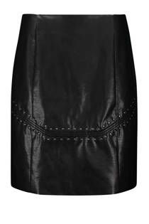 Expresso imitatieleren rok zwart