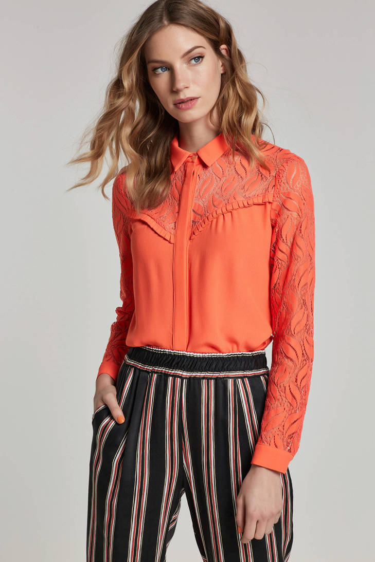 met blouse details Aaiko mesh blouse Aaiko BwtfzqEv