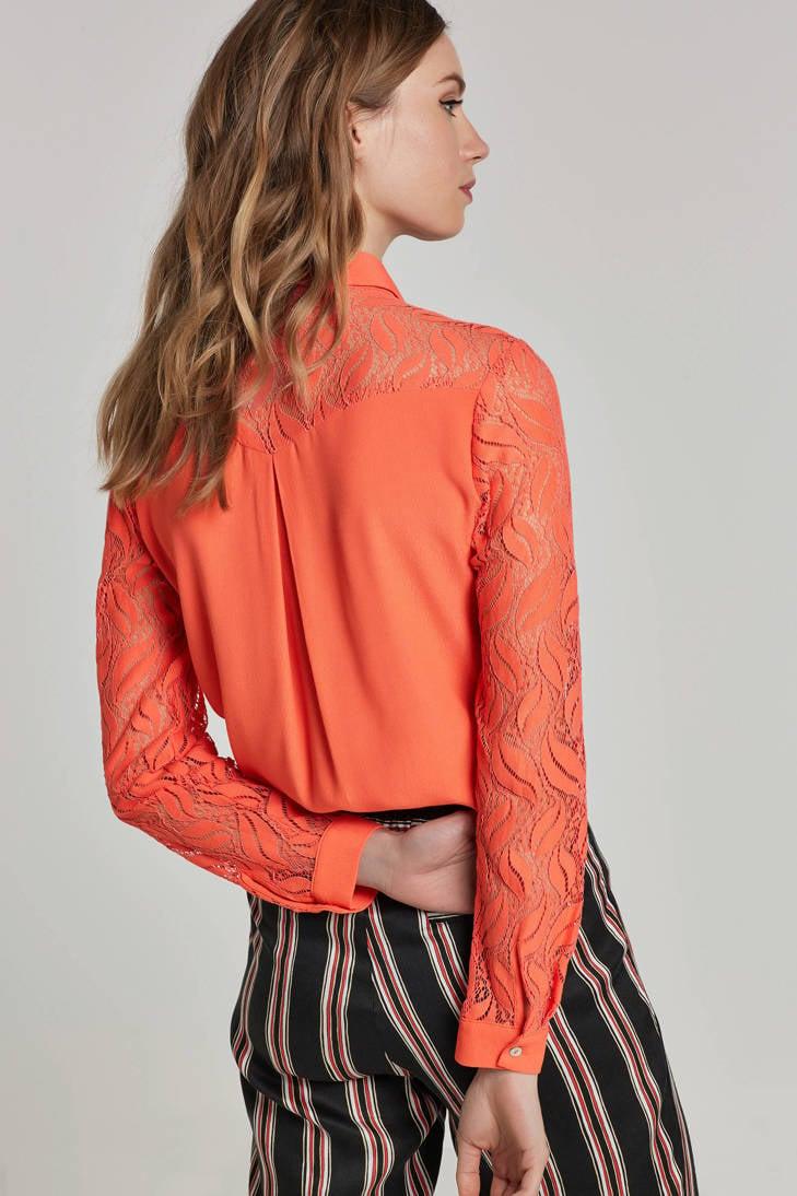 mesh Aaiko Aaiko details blouse blouse met T5IFqI4