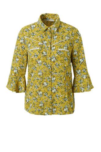 blouse met bloemenprint Silie geel