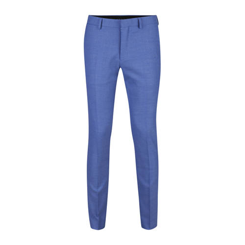 WE Fashion slim fit pantalon met wol