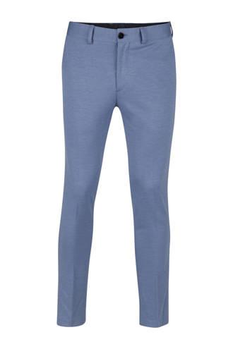 gemêleerde slim fit pantalon blauw
