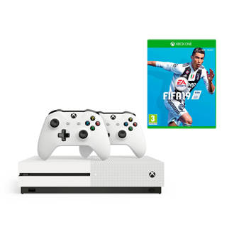 Xbox One S 1TB + 2 controllers + FIFA 19