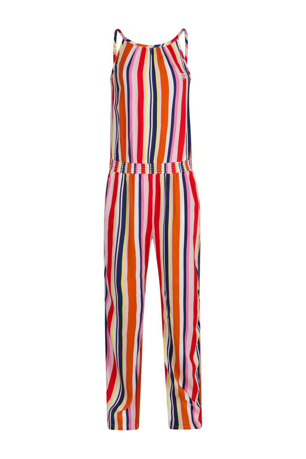 WE Fashion gestreepte jumpsuit multicolor, oranje/multicolor