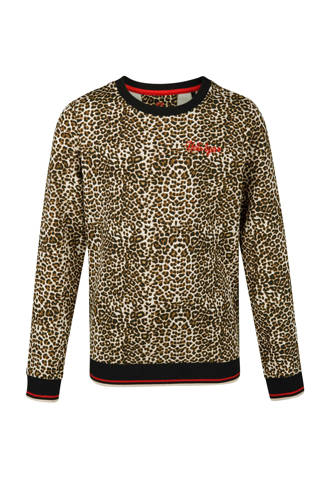 sweater met panterprint