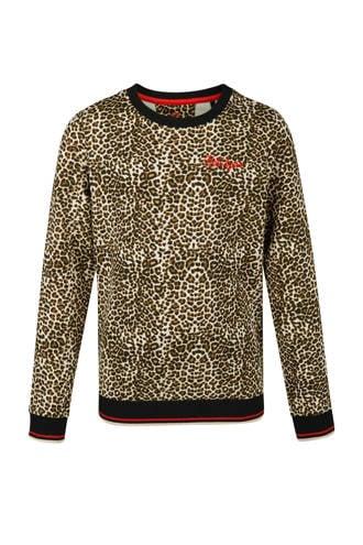 sweater met panterprint