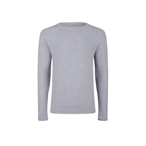 WE Fashion trui met textuur grijs