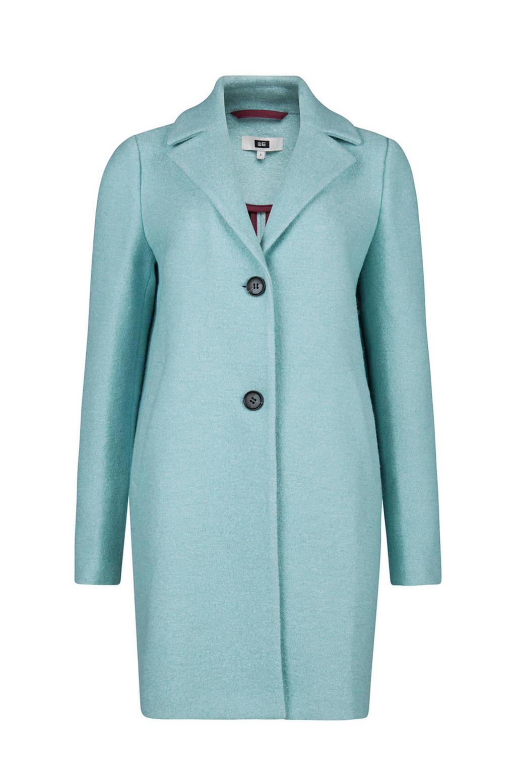 WE Fashion coat lichtblauw, Lichtblauw