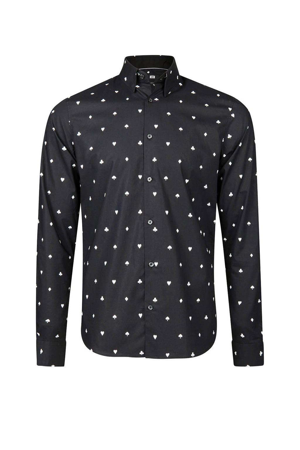 Zwart Overhemd We.We Fashion Slim Fit Overhemd Met Print Zwart Wehkamp