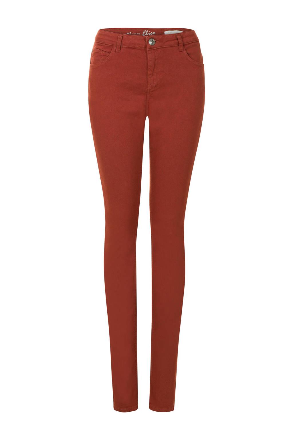 Miss Etam Lang slim fit jeans rood, Rood