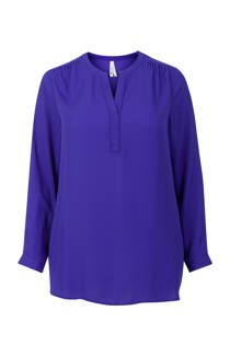 Miss Etam Plus blouse blauw (dames)