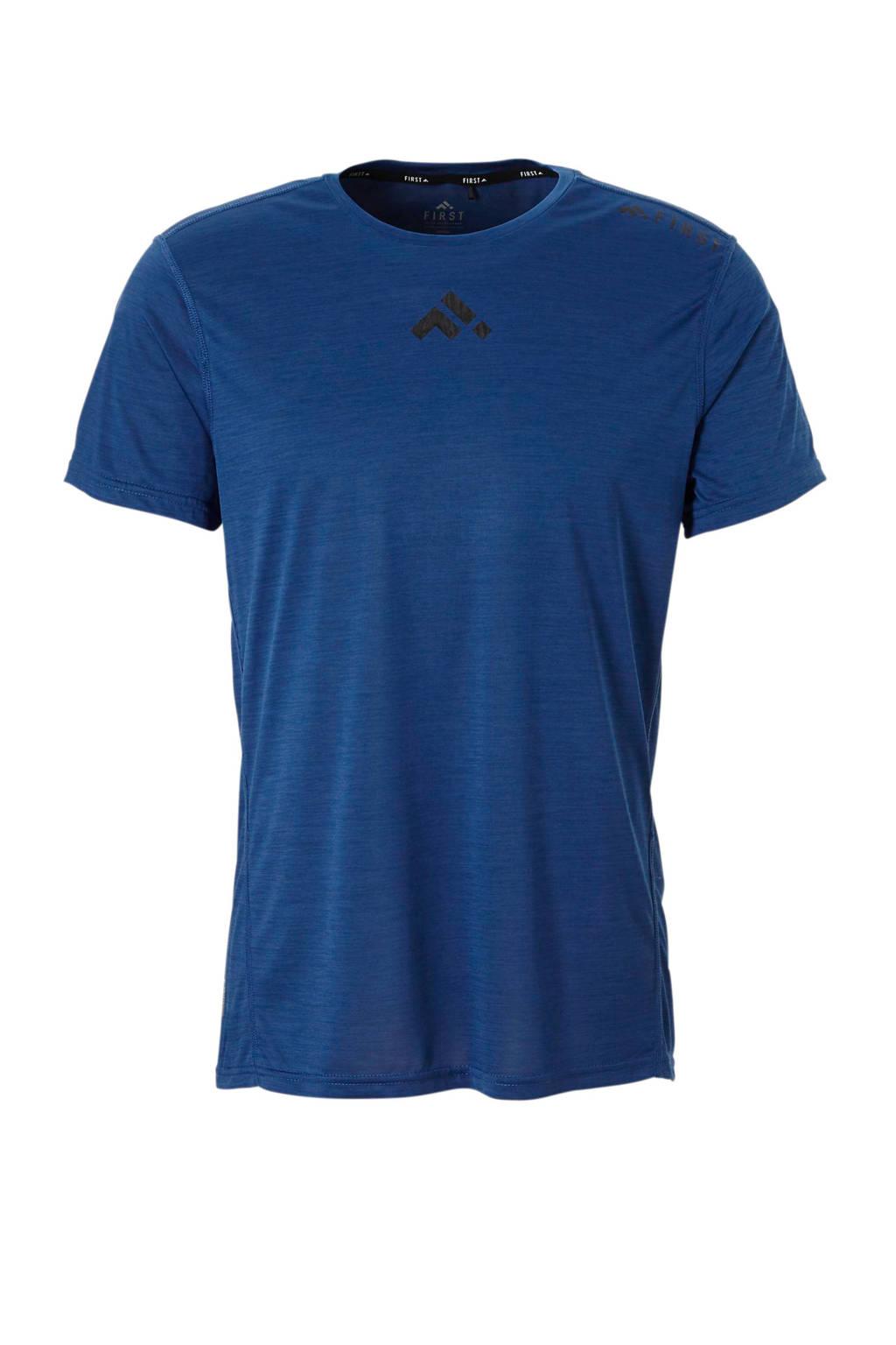 First   sport T-shirt donkerblauw, Donkerblauw